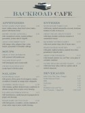 Bay Cafe Menu