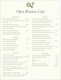 Brunch Cafe Menu