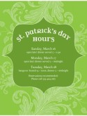 St Patricks Hours Flyer