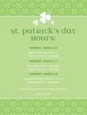 St Pattys Hours Flyer