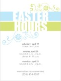 Easter Hours Flier