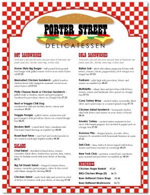 jewish deli menu template deli menu