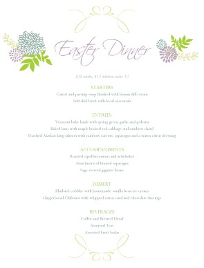 Customize Italian Easter Menu