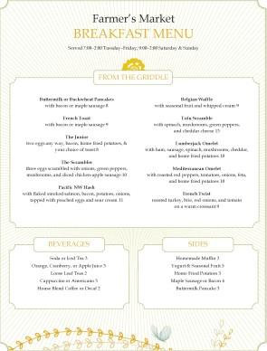 Dinner breakfast menu breakfast menus for Simple html menu template