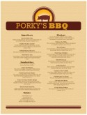 Barbeque Menu