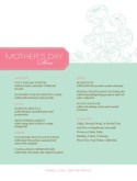 Mothers Day Dinner Menu