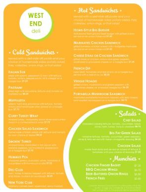 customize delis menu