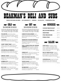 Deli Restaurant Menu