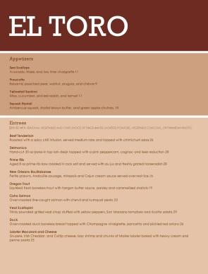 steakhouse menu template designs easy to edit musthavemenus