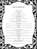 Fine Restaurant Dining Menu