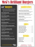 Backyard Burger Menu