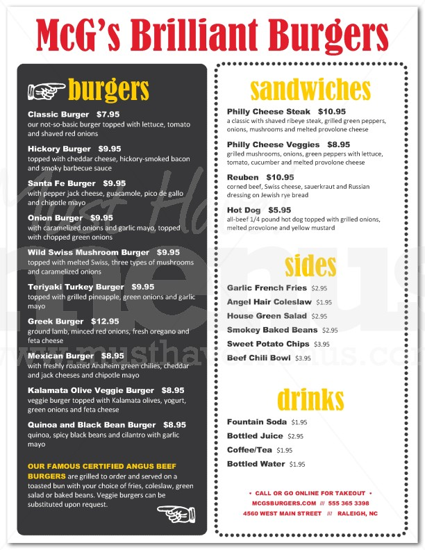 backyard burger menu page 1 of 1