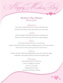Mothers Day Banner Menu