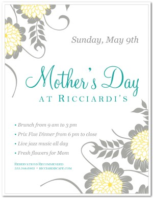 mothers day flyer template mother s day flyers