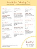 Catering Breakfast Platter Menu