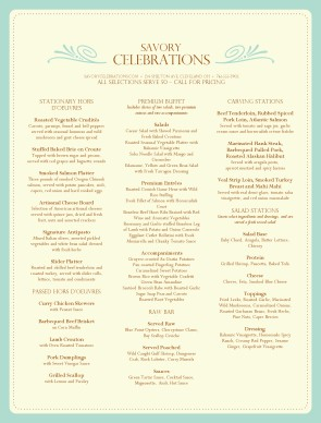 Customize Wedding Reception Menu