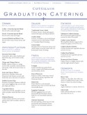 Graduation Party Catering Menu