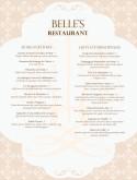 French menu templates French Bistro Menu Template