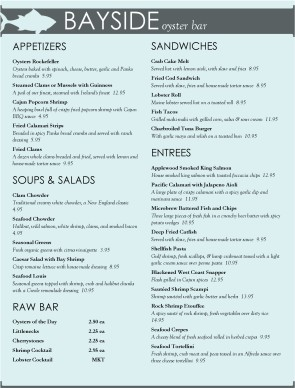 Archive Fresh Seafood Menu Template Archive