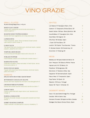 Customize City Wine Bar Menu