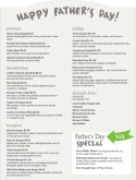Fathers Day Party Menu