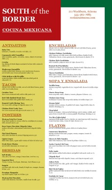 Customize Mexican Dinner Menu
