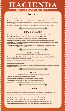 Customize Mexican Cafe Menu