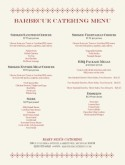 Barbecue Catering Menu