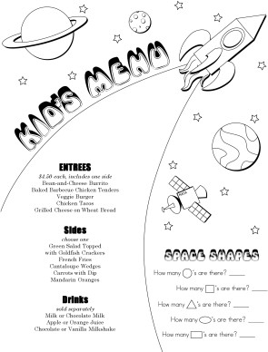 Customize Cafe Kids Menu  Kids Menu Templates
