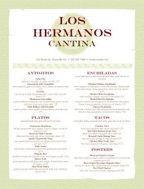 spanish lunch menu