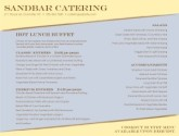 Catering Lunch Menu