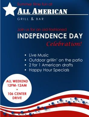 4th of july flyer 4th of july flyers for 4th of july menu template