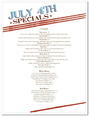 July 4th specials menu template 4th of july menus for 4th of july menu template