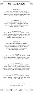 Customize Spring Specials Menu