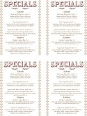 Winter Specials Mini Menu