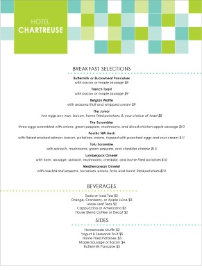 Customize Hotel Menu
