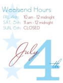July 4th Hours Flyer