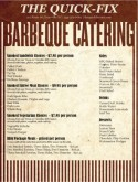 Barbeque Catering Menu