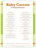 Italian Family Dining Menu