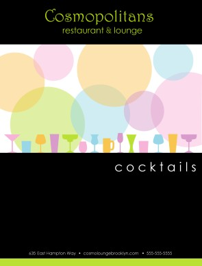 View Cocktail Menu Cover