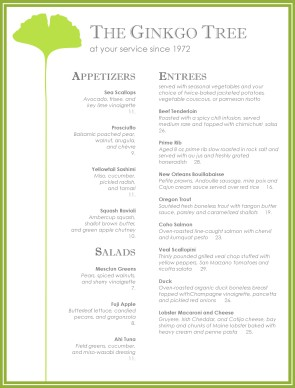 Best fine dining menu fine dining menus for Fine dining menu template free