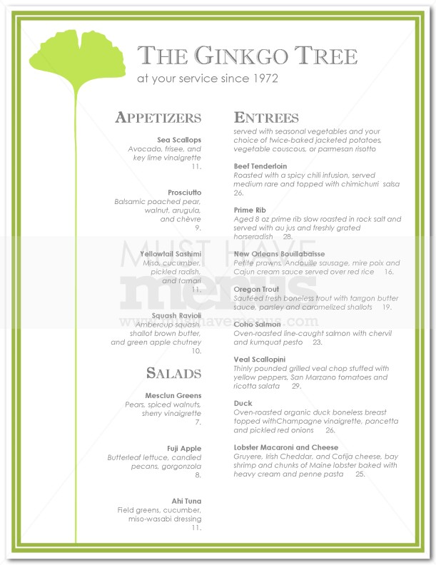 Pin Fine Dining Menu Design Food On Pinterest