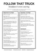 Seasonal Breakfast Platter Menu