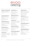 Boxed Lunch Catering Menu