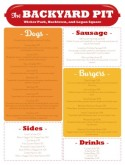 Hot Dog Cart Menu