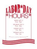 Labor Day Hours Flyer