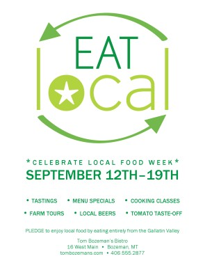Customize Local Food Week Flyer