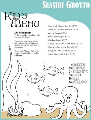 food menu design template