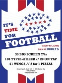 Sports Bar Football Flyer