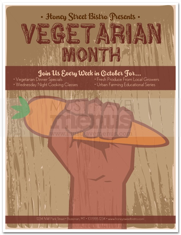 Vegetarian Month Flyer Page 1